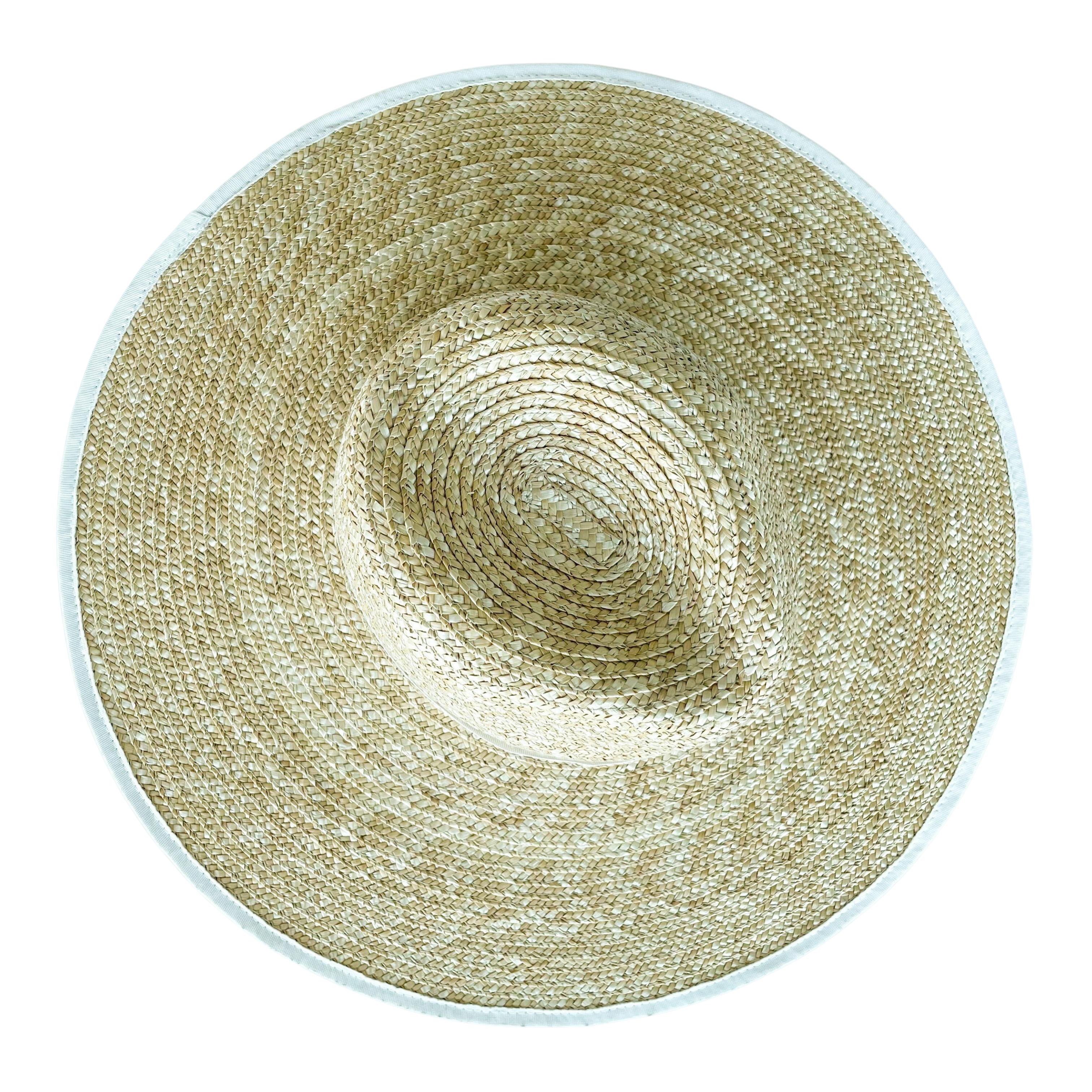 Elise fedora natural straw hat large brim