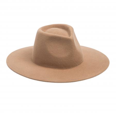 Jade fedora wool hat camel