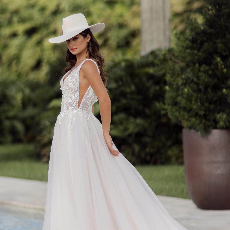 Lilian bridal fedora felt hat ivory
